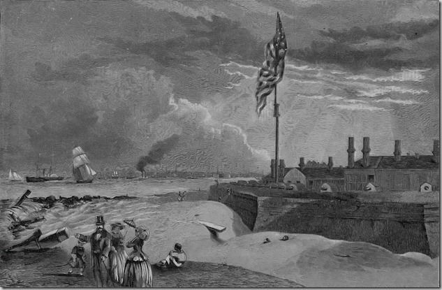 Fort Moultrie (Sullivan's Island).  Charleston, South Carolina in the Distance – Harper's Weekly, November 17, 1860