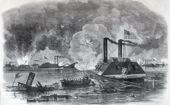 Naval Combat off Fort Wright in the Mississippi River, May 8, 1862