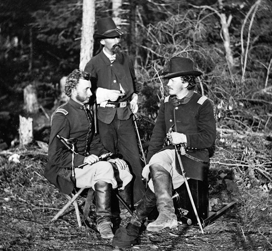 The Peninsula, Va. Lts. George A. Custer, Nicolas Bowen, and William G. Jones