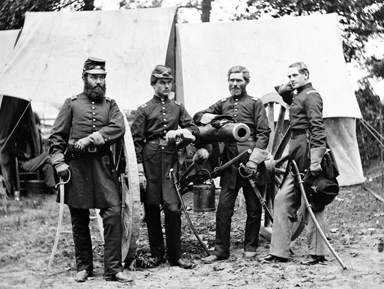 Fair Oaks, Va., vicinity. Capt. James M. Robertson (third from left) and officers