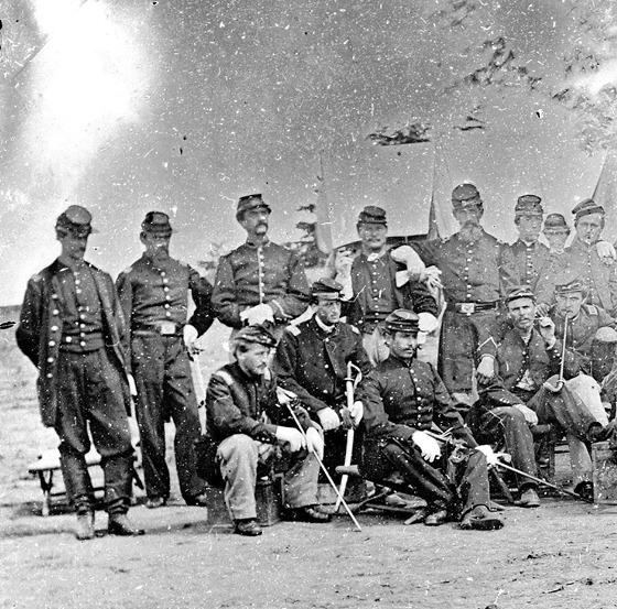 Group of officers 1st Rhode Island Light Artillery