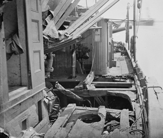 July 4, James River, Va. Deck of Confederate gunboat Teaser