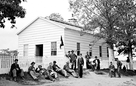 1862 August Washington, D.C. Hospitals, Signal Corps camp quarters near Georgetown