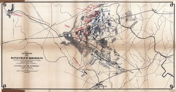 Illustrative map of the battlefield of Manassas, Va., showing positions and movement of troops August 29th, 1862