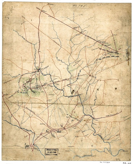 Sketch showing positions of Second Corps, A.N.Va., August 26th to September 2, 1862