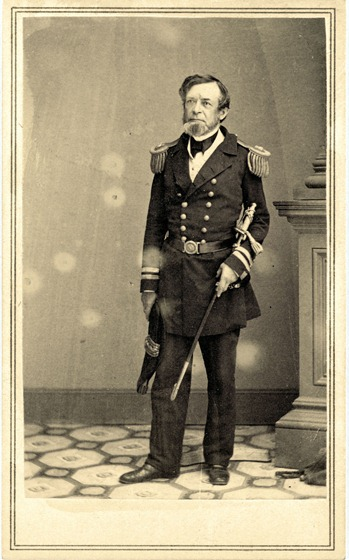 Andrew Hull Foote in military uniform, full-length portrait, facing front