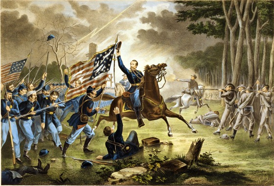 General Kearney's gallant charge, at the Battle of Chantilly, Va., 1st of September 1862