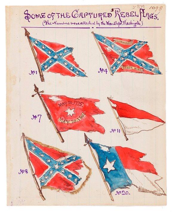 Antietam - Some of the Captured Rebel Flags