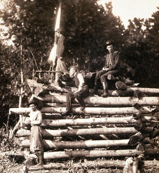 Signal station on Elk Mountain, Md., overlooking battlefield of Antietam, October 1862