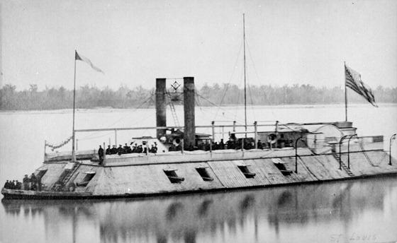 U.S.S. St. Louis, first Eads ironclad gunboat, renamed the Baron de Kalb in October 1862