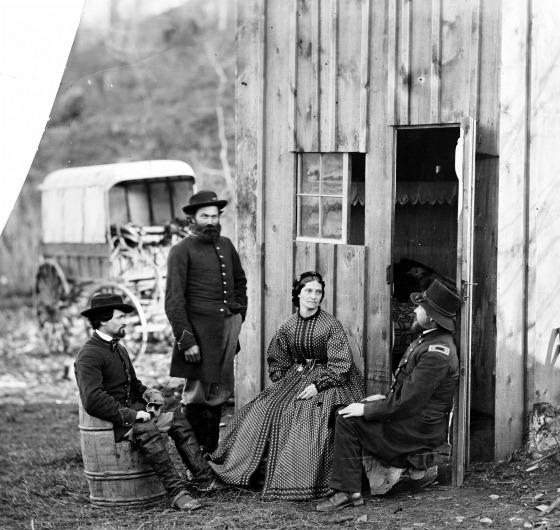 Aquia Creek Landing, Virginia (vicinity)]. Group at Captain W.S