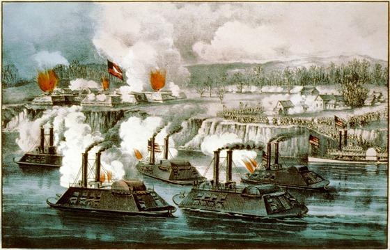 Bombardment and capture of Fort Hindman, Arkansas Post, Ark. Jany