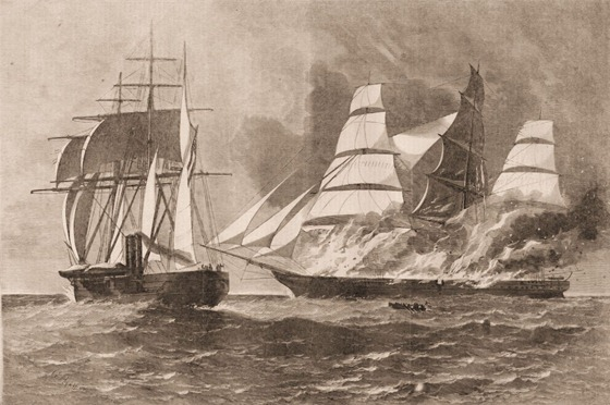 CSS Florida Destroys the Jacob Bell
