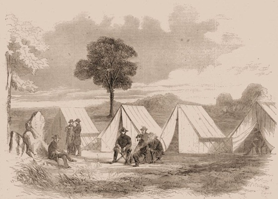 General Stonewall Jackson in Camp