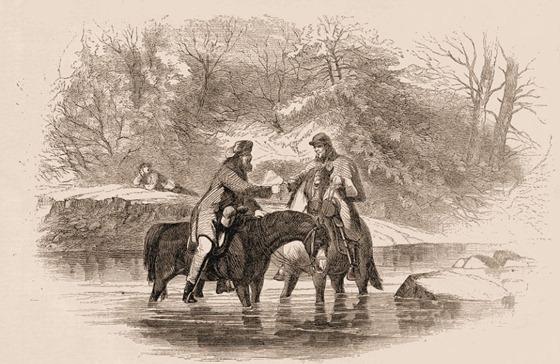 Interchange of Civilities between Two Mounted Pickets