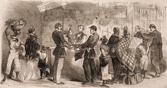 The New Orleans Market—Soldiers Exchanging Rations for Fruit, Etc;