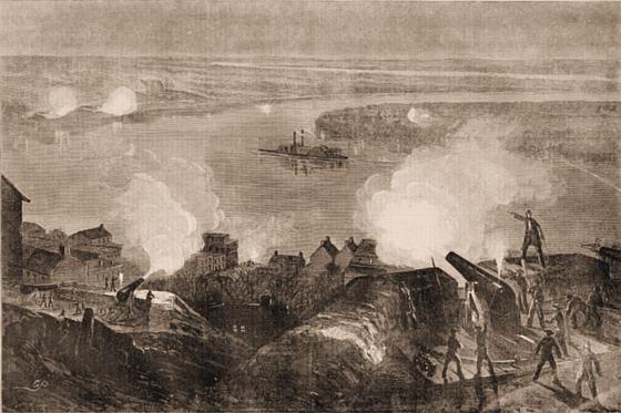 The United States Gun-Boat, Indianola, (Iron-Clad) Running the Blockade at Vicksburg