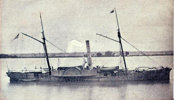 U.S.S. Genesee at Baton Rouge, La., March 1863