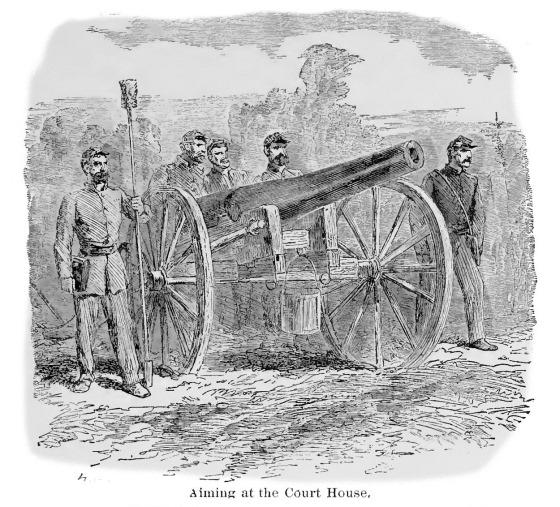 Aiming at the Court House, Vicksburg, June 1863