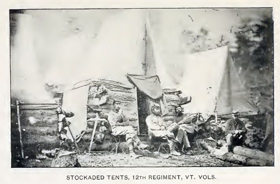 stockaded tents, 12th vermont