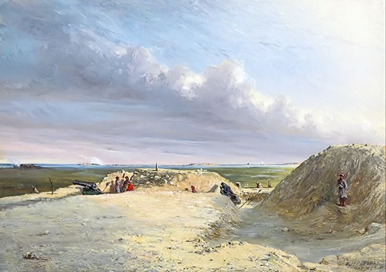 Battery Chevis, March 4, 1864 - by Conrad Wise Chapman