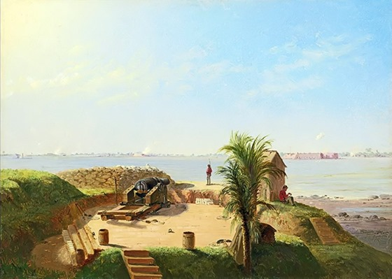 Battery Marion, November 4, 1863 by Conrad Wise Chapman