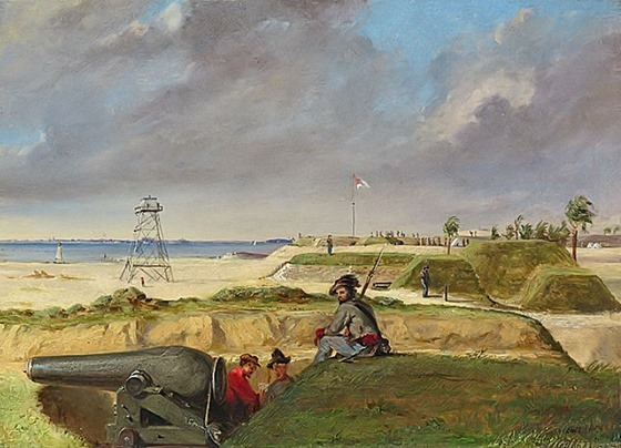 Battery Rutledge December 3, 1864 by Conrad Wise Chapman