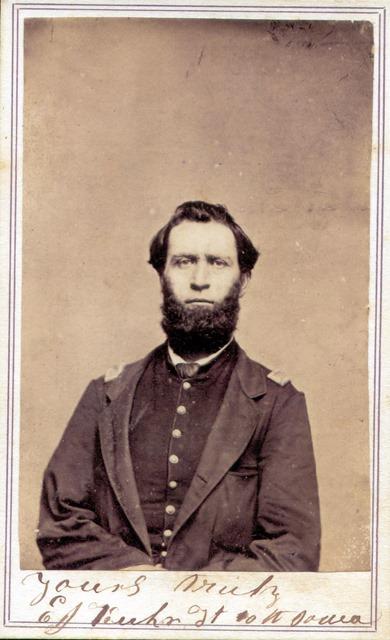 Captain Elbert J Kuhn, Indianola, Iowa, Company G, 10th Iowa Infantry.