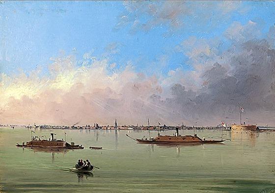 Charleston Bay and City by John Wise Chapman