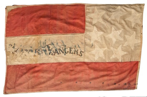 Confederate flag captured by the 4th Minnesota at the Battle of Jackson, Mississippi, reverse side