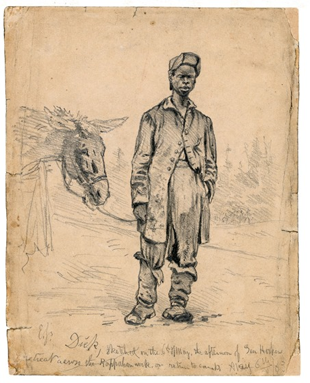 Dick,  sketched on the 6th of May, the afternoon of Gen. Hookers retreat across the Rappahannock.