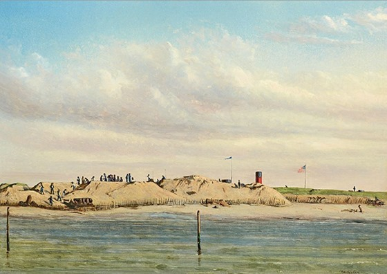Federal Battery on Morris Island, February 12, 1864 by Conrad Wise Chapman