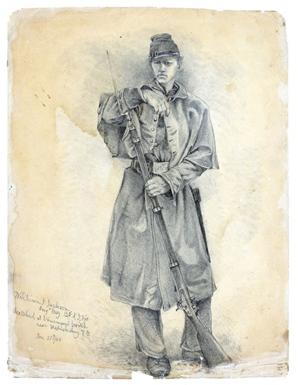 Forbes - Study of infantry soldier on guard 20516u after fade correction