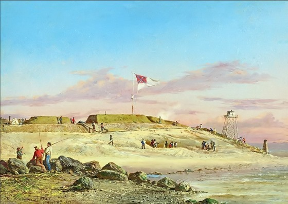 Fort Moultrie, November 11, 1863 - by Conrad Wise Chapman