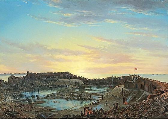 Fort Sumter, Interior, Sunrise, December 9, 1864 - Conrad Wise Chapman