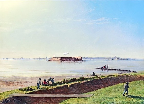 Fort Sumter from Moultrie, November 10, 1863 by Conrad Wise Chapman