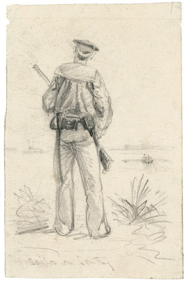 Sailor on Sentry - Alfred Waud