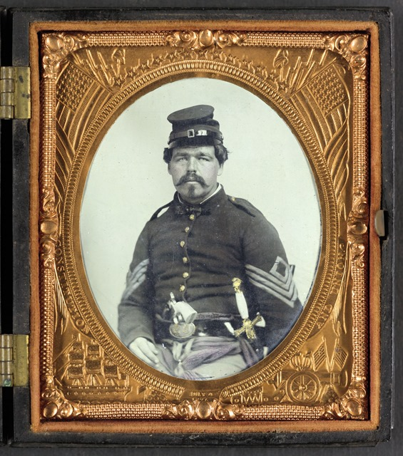Unidentified-soldier-in-Union-first-serg