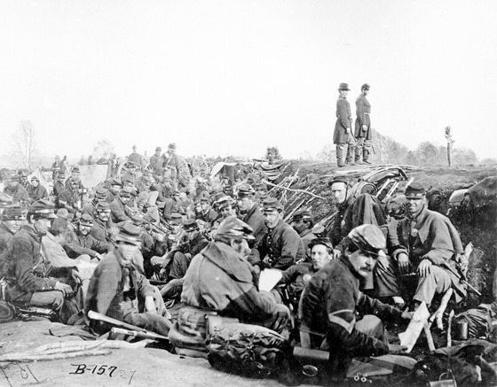 Union Soldiers Entrenched Near Fredericksburg - May 2, 1863
