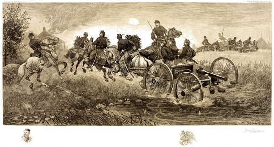 cavalry and horse artillery troops at the Battle of Chancellorsville, Virginia, May 3, 1863