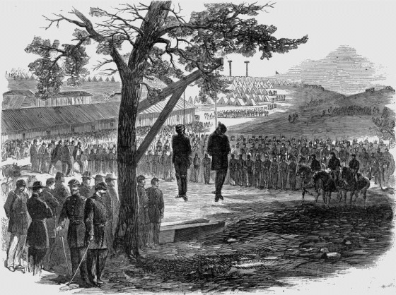 Execution, By Hanging, Of Two Rebel Spies, Williams and Peters, In the Army of the Cumberland, June 9, 1863
