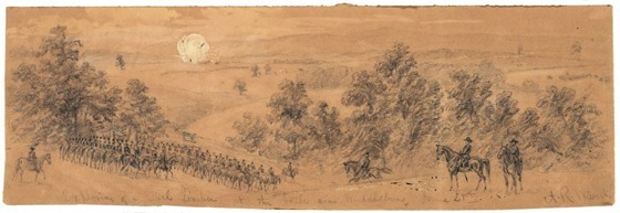 June 21st Explosion of a rebel limber at the battle near Middleburg
