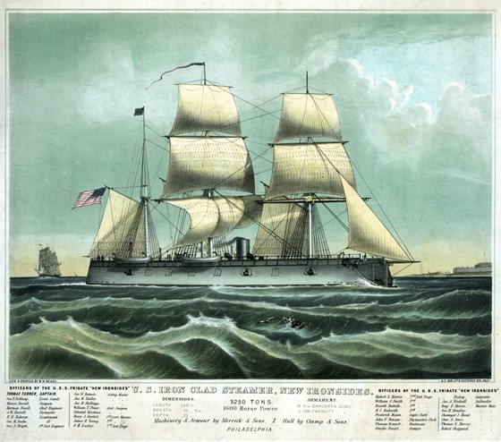 U.S. Iron clad steamer, New Ironsides