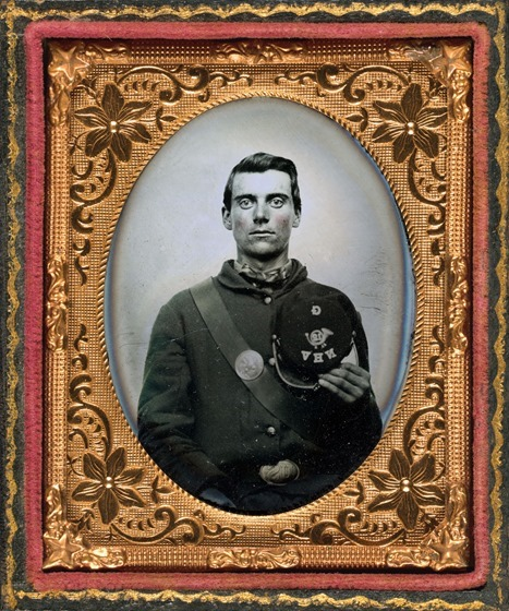 Pvt. Edward H. Clark of Company G, 12th New Hampshire Volunteers in frame