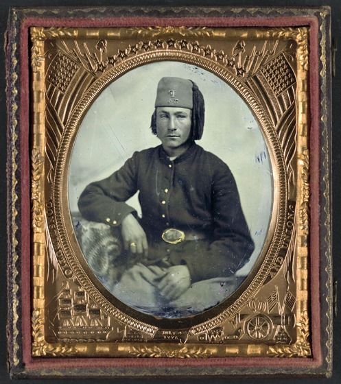Unidentified soldier of Company F, 34th Ohio Infantry Regiment or Piatt's Zouaves