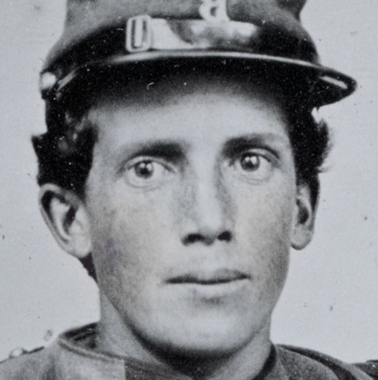 Brothers Private Henry Luther and First Sergeant Herbert E. Larrabee - close-up crop 1