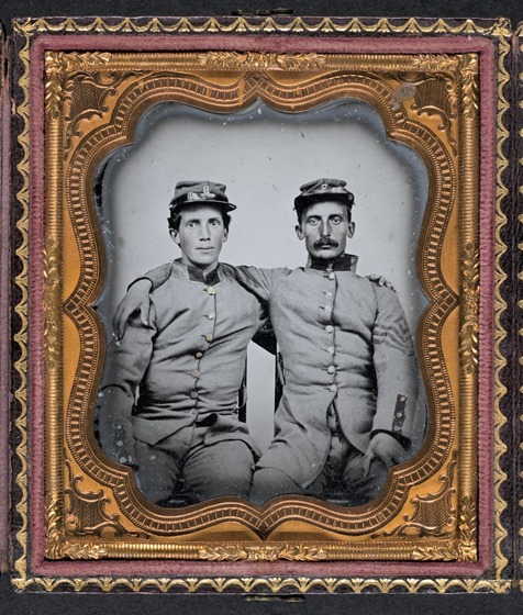 Brothers Private Henry Luther and First Sergeant Herbert E. Larrabee - in frame