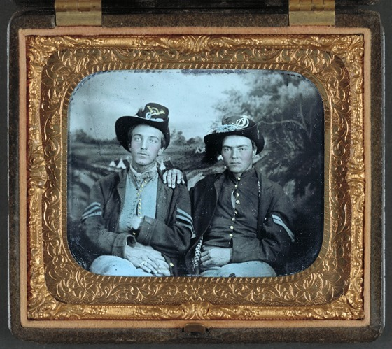 Unidentified sergeant and corporal in Union uniforms-- in frame