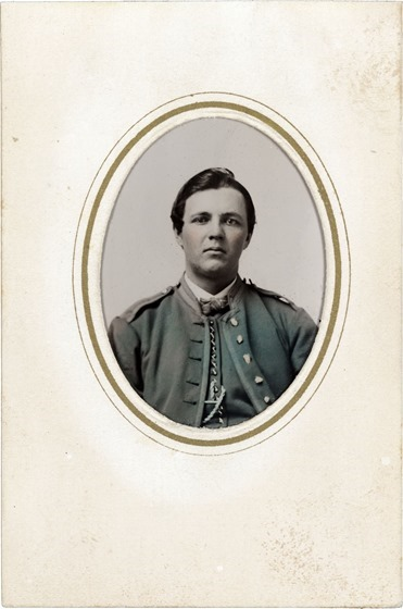 Unidentified soldier in Union uniform --  G. P. Lasselle, photograper -- on card