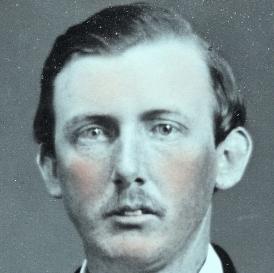 close-up crop -- Captain James Dugan Gist